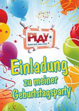 einladungskarten | play bowling & more, Einladung