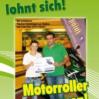 Motorroller gewonnen!